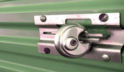 Padlock on a storage locker